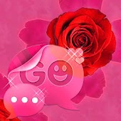 GO SMS Theme Pink Rose Cute