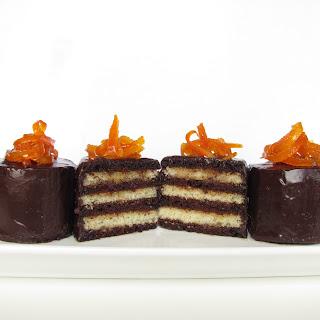 Chocolate and Vanilla Grand Marnier Torte