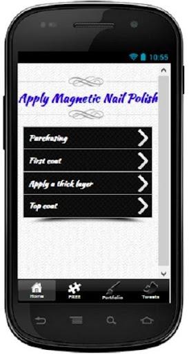 Apply Magnetic Nail Polish