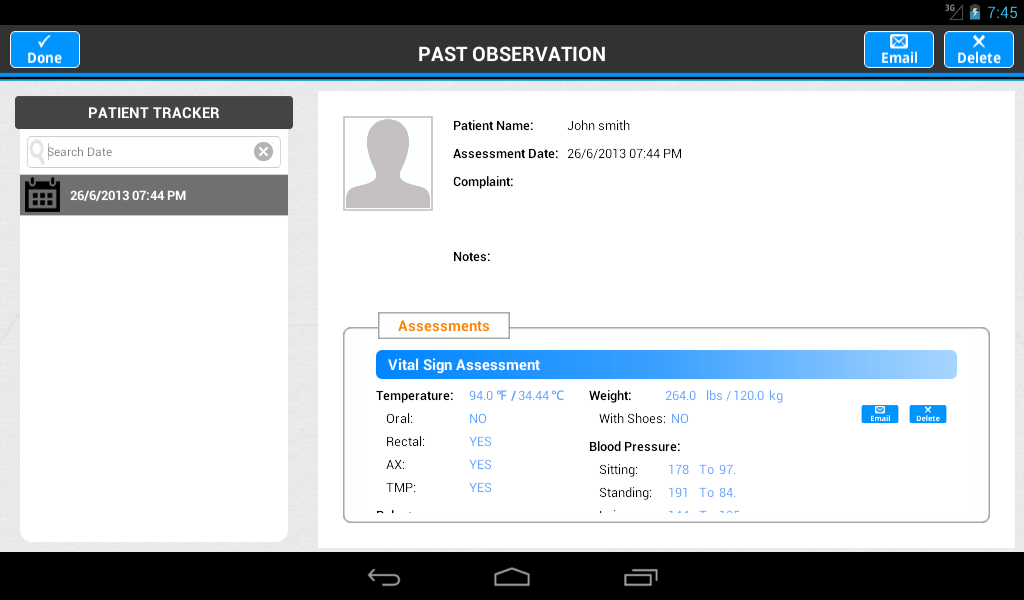 Patient Tracker- screenshot