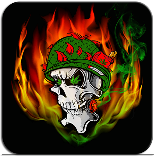Skull Soldier Weed Magic FX Icon