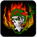 Skull Soldier Weed Parallax 3D icon