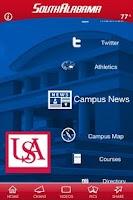 Screenshot of University of South Alabama