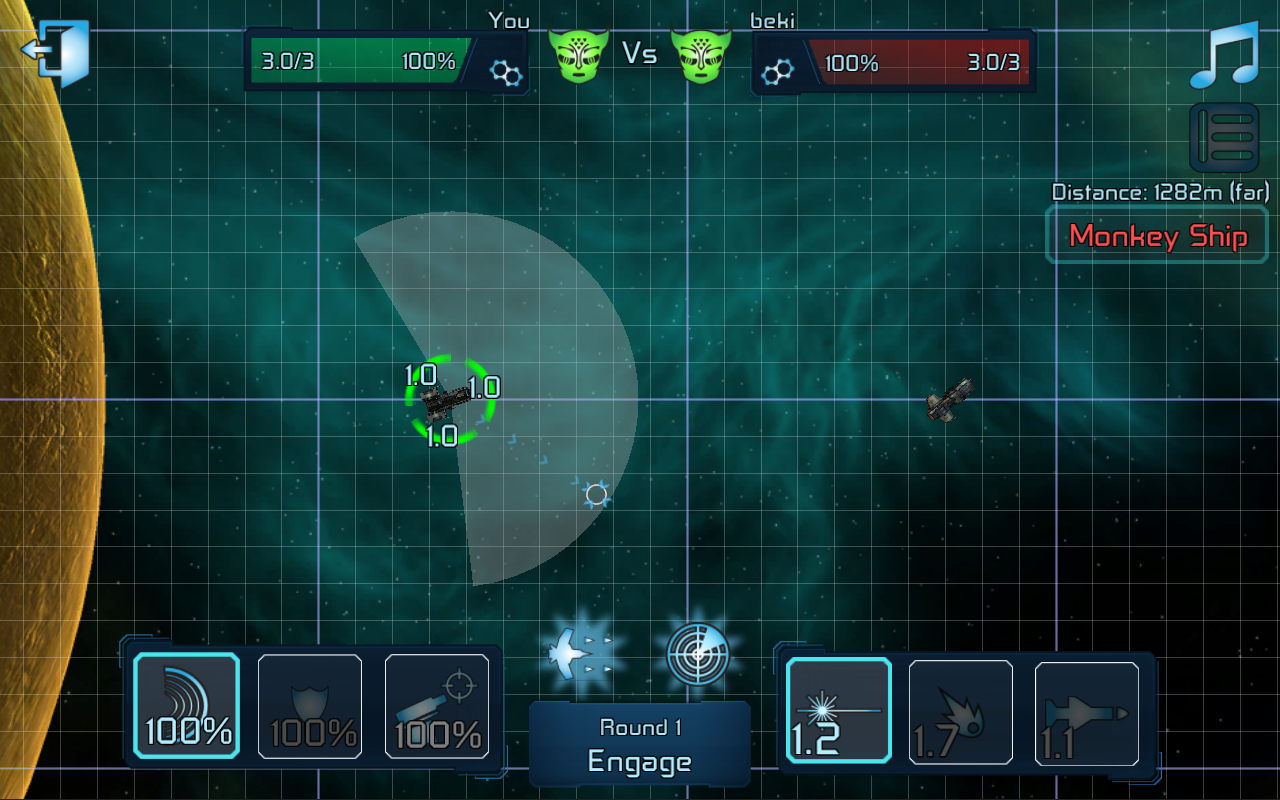 WarSpace: Starship Duels - screenshot