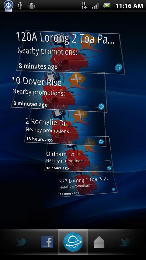 ShowNearby™ Timescape™- screenshot