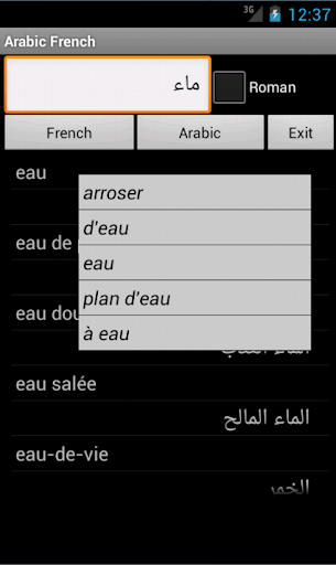 French Arabic dictionary