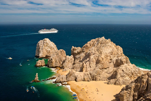 Carnival-Splendor-Cabo-3 - On cruises to Cabo San Lucas, Mexico, Carnival Splendor sails to the place where the Gulf of California meets the Pacific Ocean.