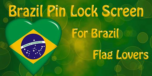 Brazil Flag Pin Lock Screen