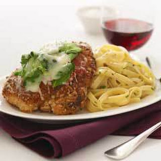 Pine Nut-crusted Chicken Parmesan.