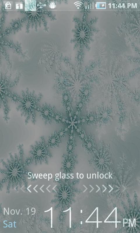 Winter Snowflake Theme Live - screenshot