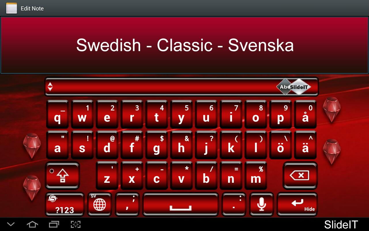 SlideIT Swedish Classic Pack - screenshot
