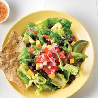 Black Bean & Cheddar Taco Salad with Pico de Gallo.