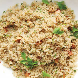 Quinoa and Almond Pilaf.