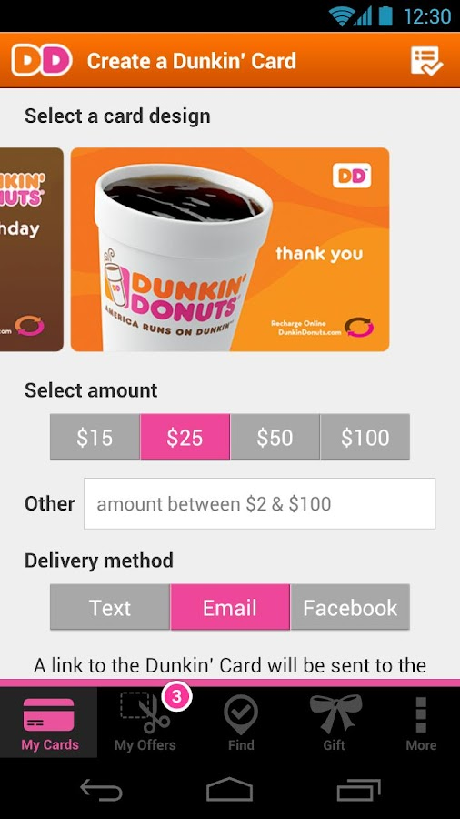 Dunkin' Donuts- screenshot