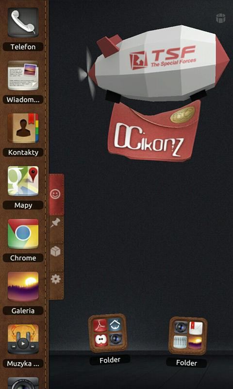 DCikonZ Leather TSF Theme- screenshot