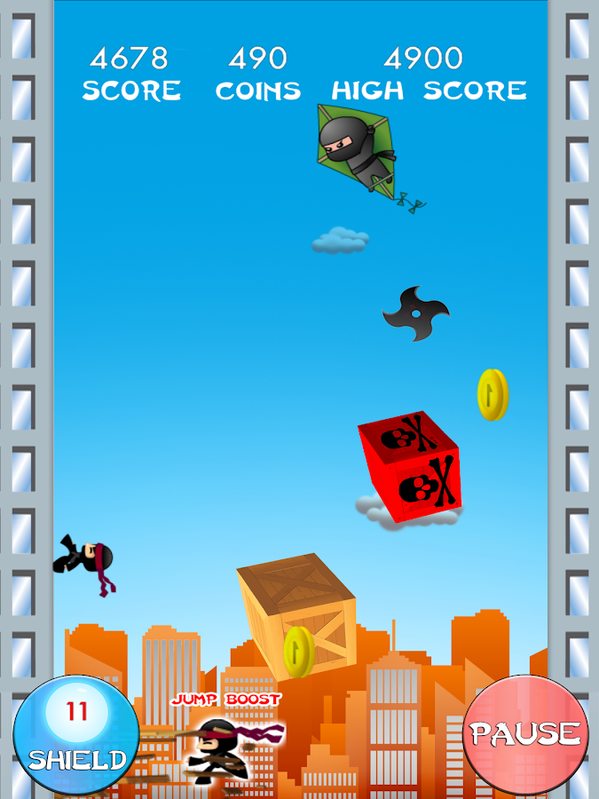 Ninja Jump Deluxe- screenshot
