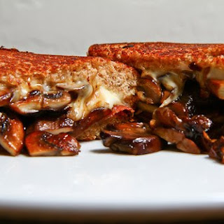 Mushroom and Prosciutto Grilled Cheese Sandwich.