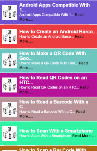 QR Code on phone Guide
