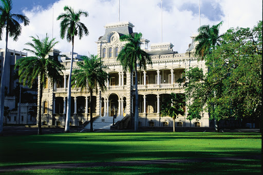 Iolani-Palace - Iolani Palace, the only royal palace in the United States. The palace is a four-story Italian Renaissance palace built by King David Kalakaua in 1882 in Honolulu.