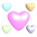 Cute 3D Hearts Live Wallpaper icon