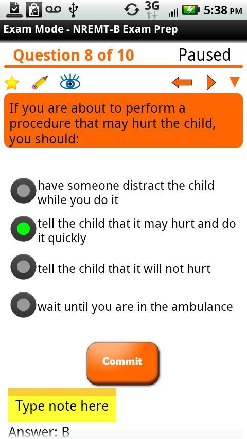 EMT-Basic Exam Preparation - screenshot