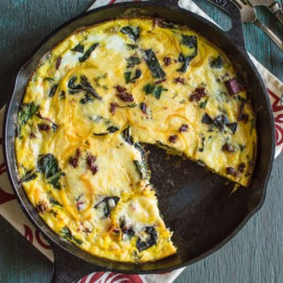 Swiss Chard and Golden Beet Frittata.