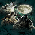 Wolves Howling Live Wallpaper icon