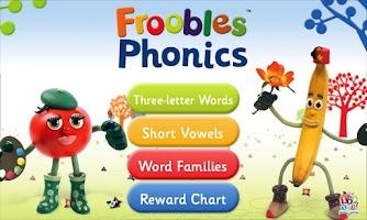 Screenshot of Froobles Phonics