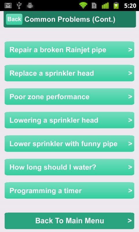 Sprinklers- screenshot