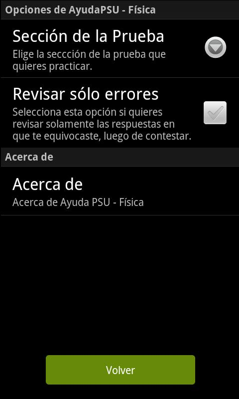 Ayuda PSU Física - screenshot