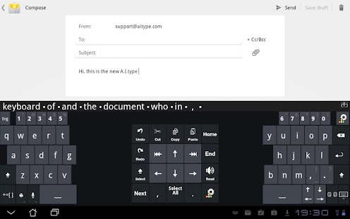 A.I.type Tablet Keyboard Plus - screenshot thumbnail