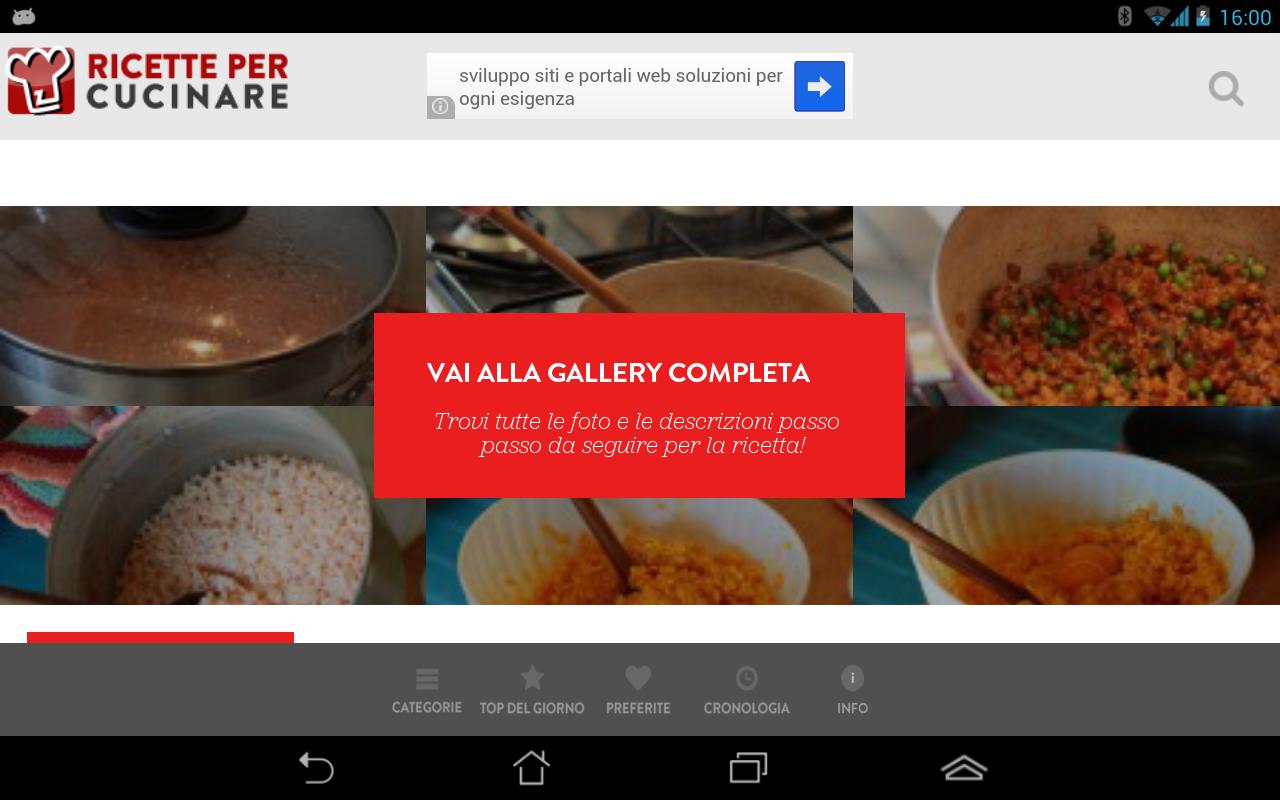 Ricette per Cucinare - screenshot