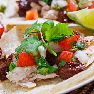 Chicken Mole Tacos.