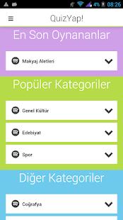 QuizYap Online Bilgi Yarışı