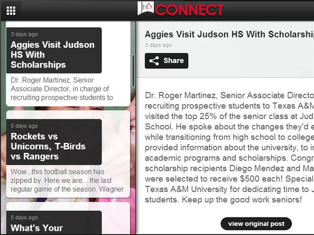 Judson ISD Connect!- screenshot
