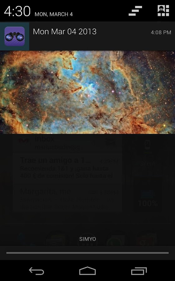 APOD widget- screenshot