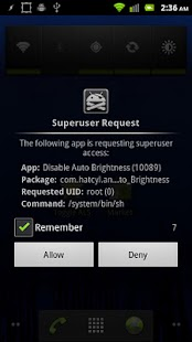 Disable Auto Brightness Xperia - screenshot thumbnail
