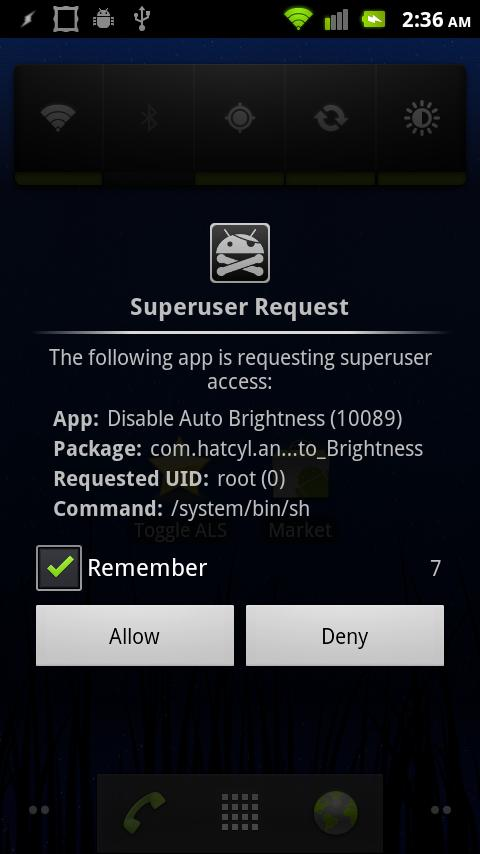 Disable Auto Brightness Xperia - screenshot