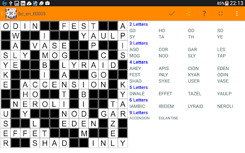 Fill it ins crosswords puzzles- screenshot thumbnail