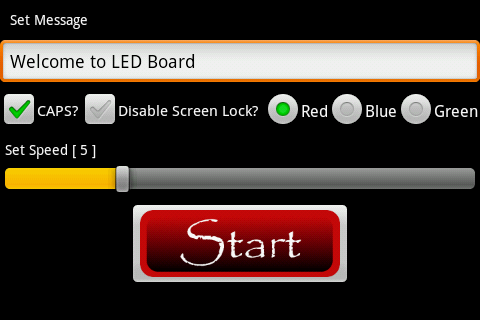LED Board - screenshot