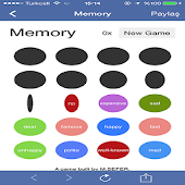 English words with memory game