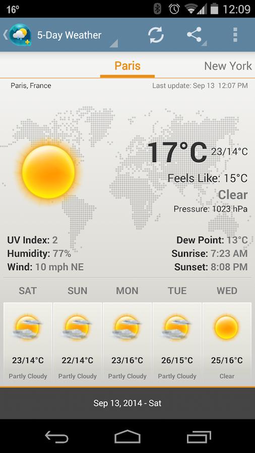 Cuaca & Jam widget ada iklan - screenshot