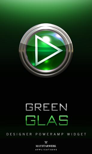 Poweramp Widget Green Glas