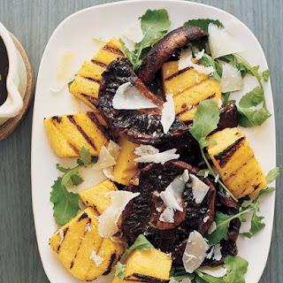 Grilled Polenta and Balsamic Mushrooms