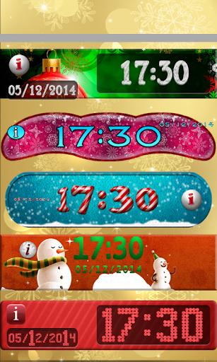 クリスマス 時計 ウィジェット