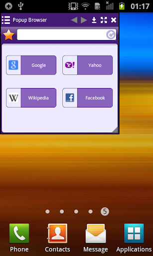Purple Popup Browser Lite