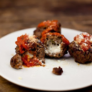 Cheese-Stuffed Meatballs.