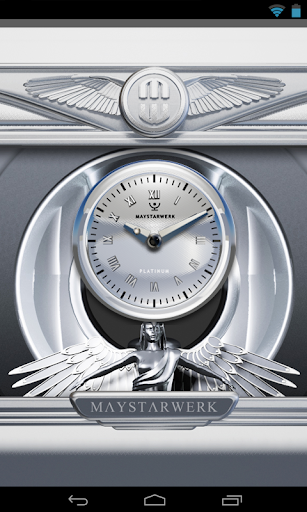 【免費個人化App】Clock Widget White Platinum-APP點子
