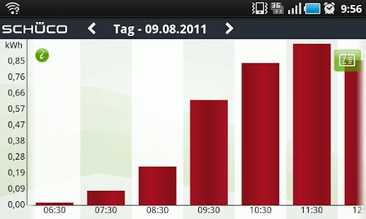 Schüco Sunalyzer App - screenshot thumbnail