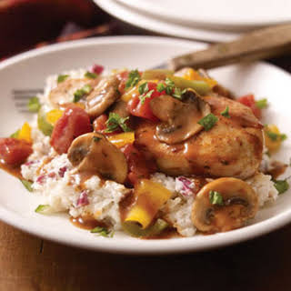 Chicken Cacciatore with Creamy Mashed Potatoes.